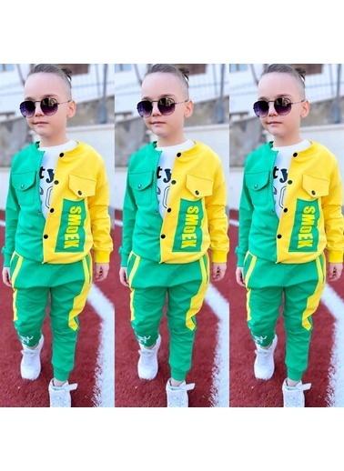 Quzucuk Kids Erkek Çocuk Ceketli Yeşil Spor Takım Yeşil